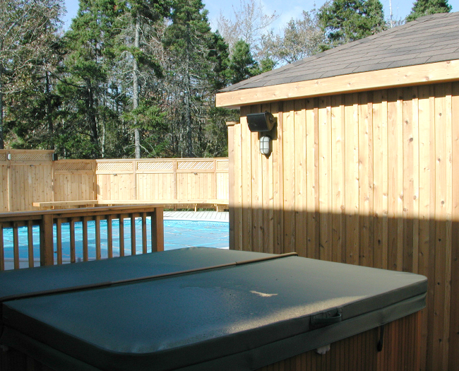 Western Red Cedar Halifax Hot Tub Pool Composite House