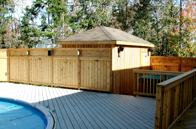 Western Red Cedar Halifax Pool Composite House Fence Railing Hot Tub