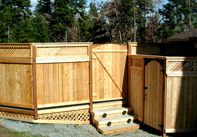 Western Red Cedar Lighting Outdoor Deck Railing Fence Hot Tub Pool