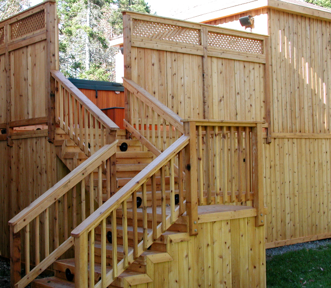 Western Red Cedar Stairs Lighting Outdoor Deck Railing Pool Halifax