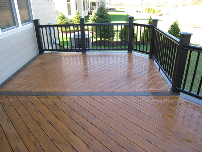 Columbus timbertech composite and pvc low maintenance deck