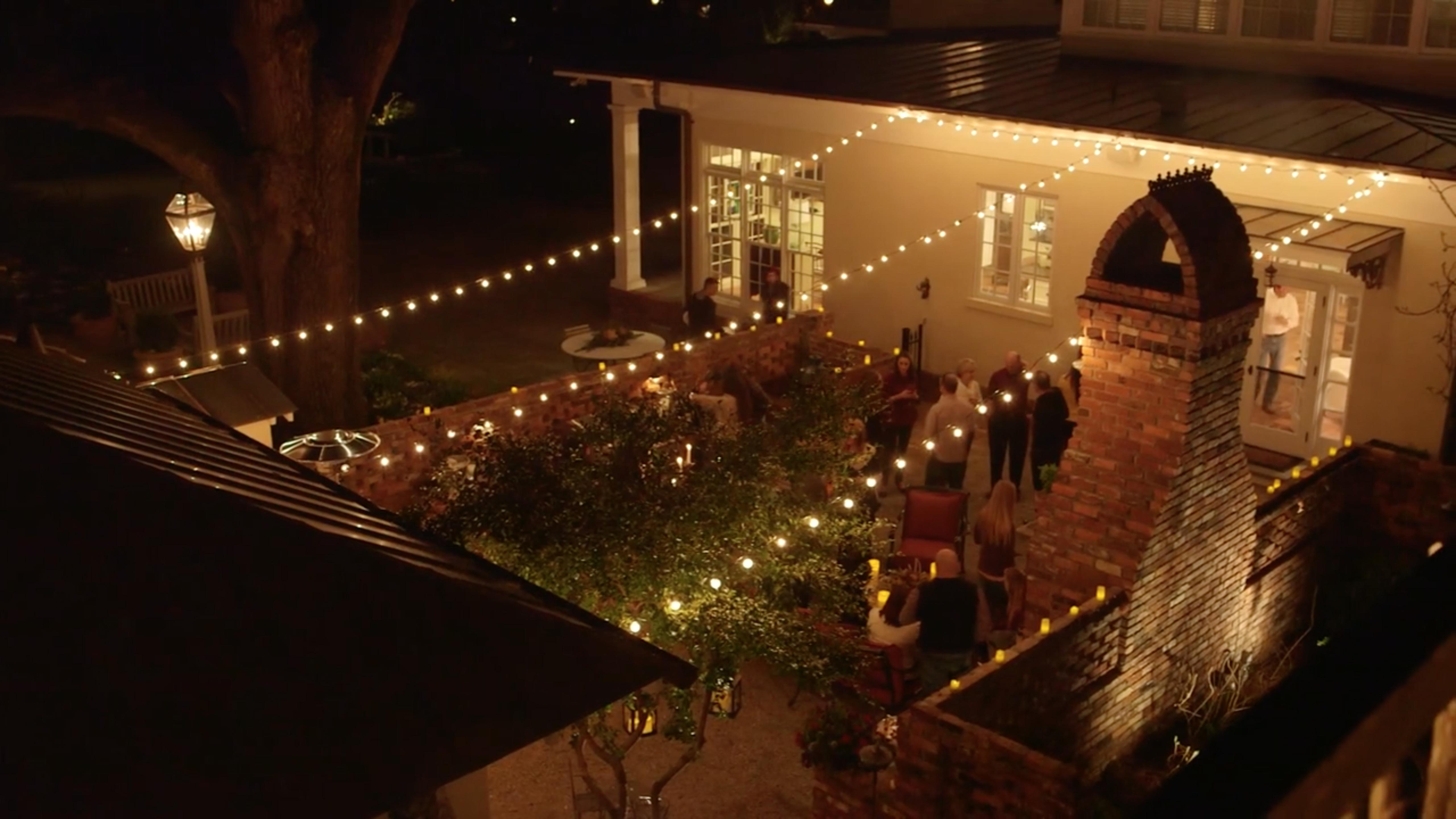 festive patio lighting Virginia Beach