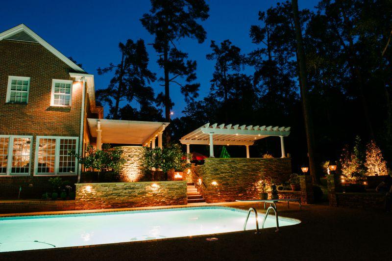 pool lighting installation Houston Texas
