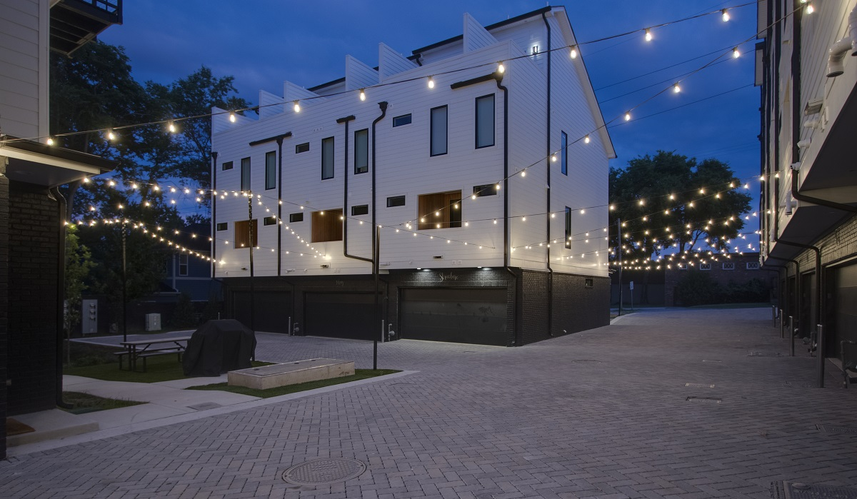 Outdoor-lighting-installation-on-8th-Ave-in downtown-Nashville