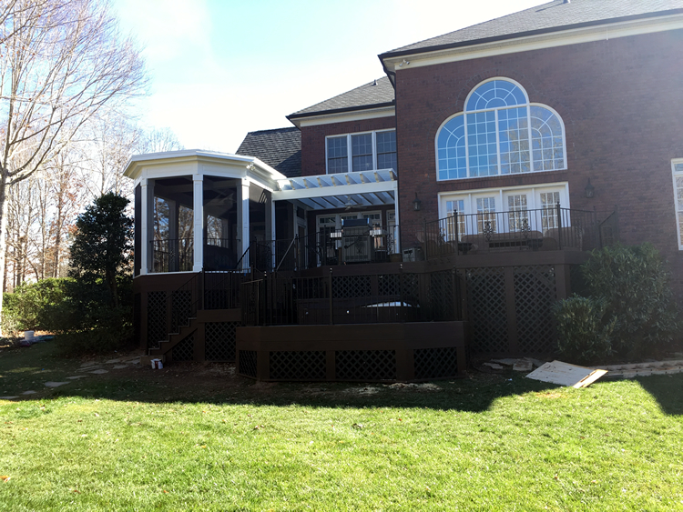 Firethorne screened porch and deck