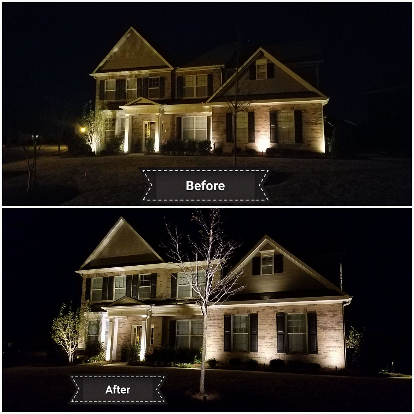 ... we transformed it to LED for an 80% savings on electrical use. The resulting lighting color and evenness of the spread is much more pleasing to the eye. & Blog | Outdoor Lighting Perspectives