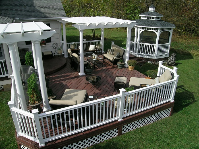 This-Xenia-outdoor-living-space-features-multiple-pergolas-designed-to-define-the-areas-of-use-on-this-deck