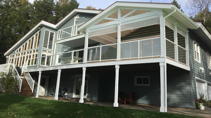 Open Deck Roof Structure Enfield Ns Archadeck Outdoor