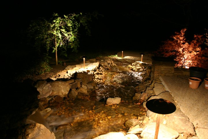 Memphis TN landscape lighting