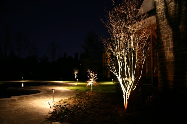 Collierville TN pathway lighting