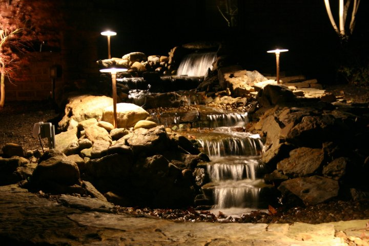 waterfall lighting Memphis TN