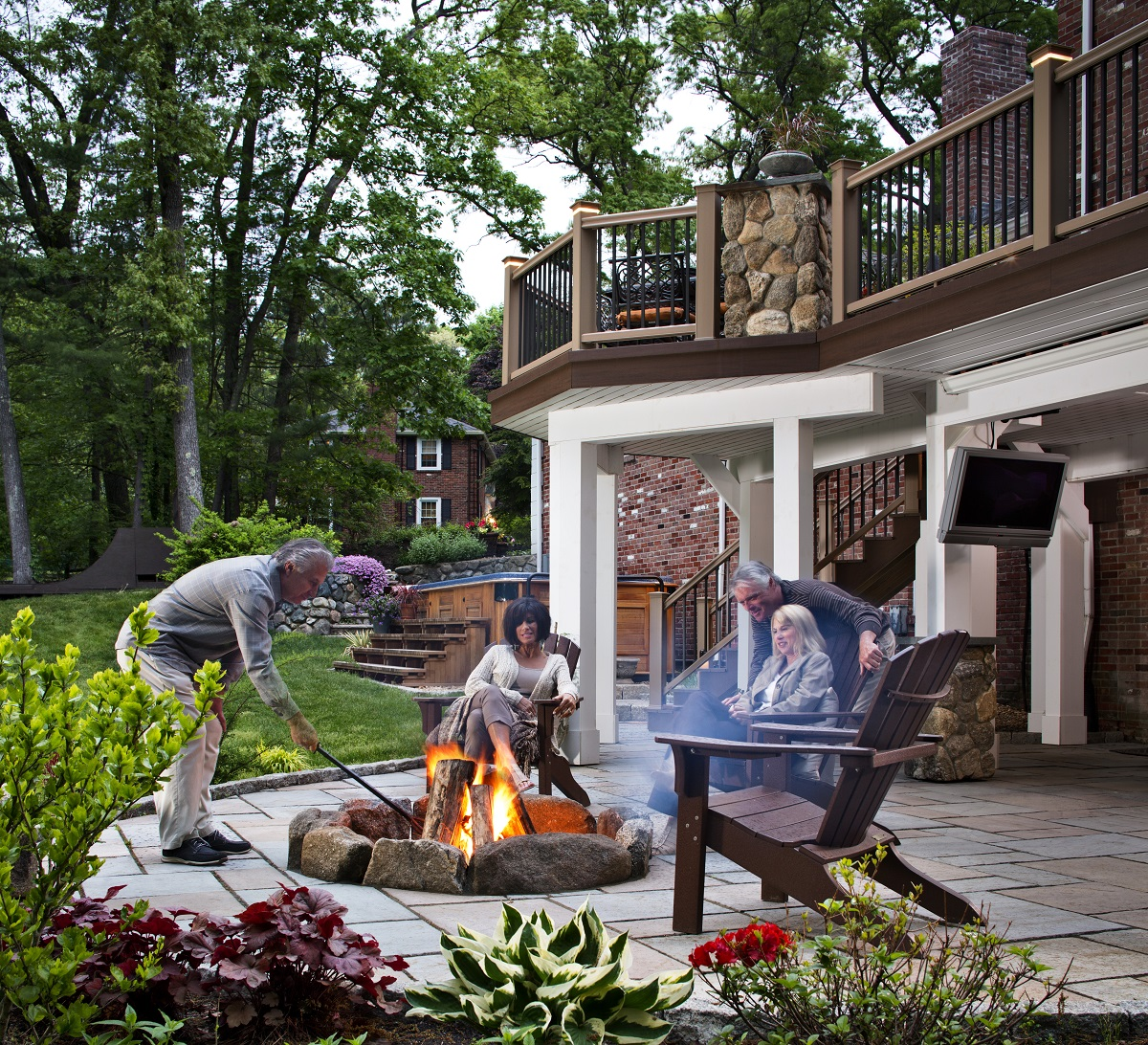 Deck-patio-under-deck-dry-space-and-fire-pit-combination