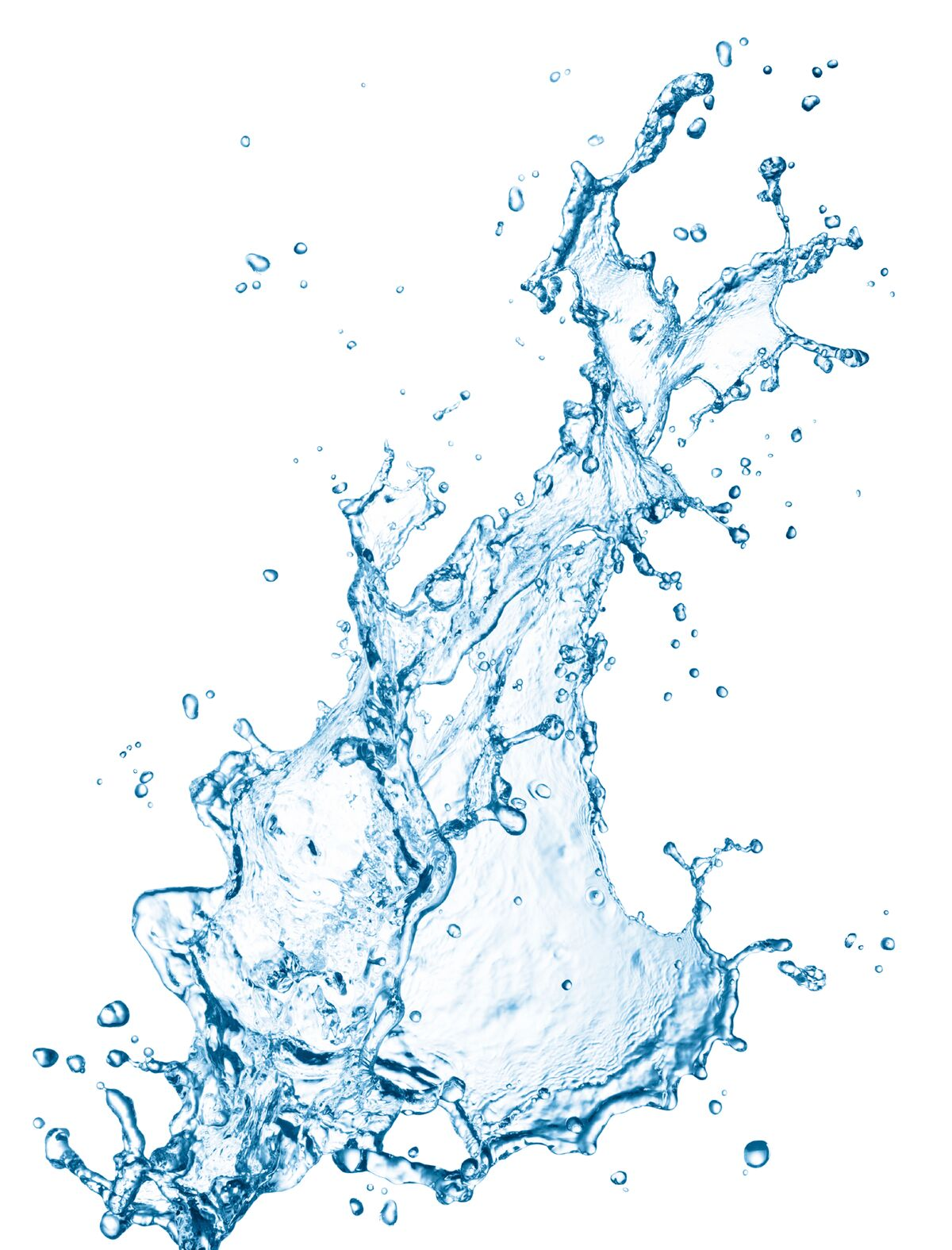 Rendered Image Of Water Splash