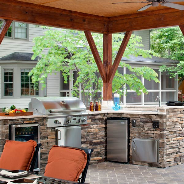 L Shape Outdoor Kitchen