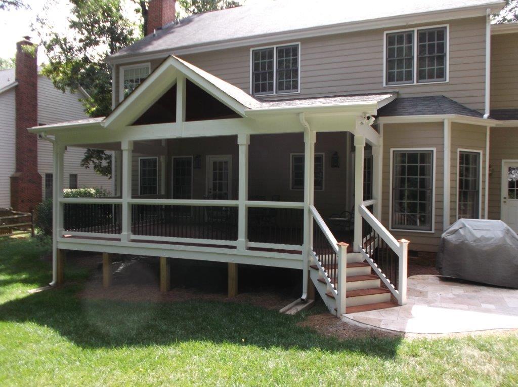 Porch builder salt lake city for Screen porch roof options