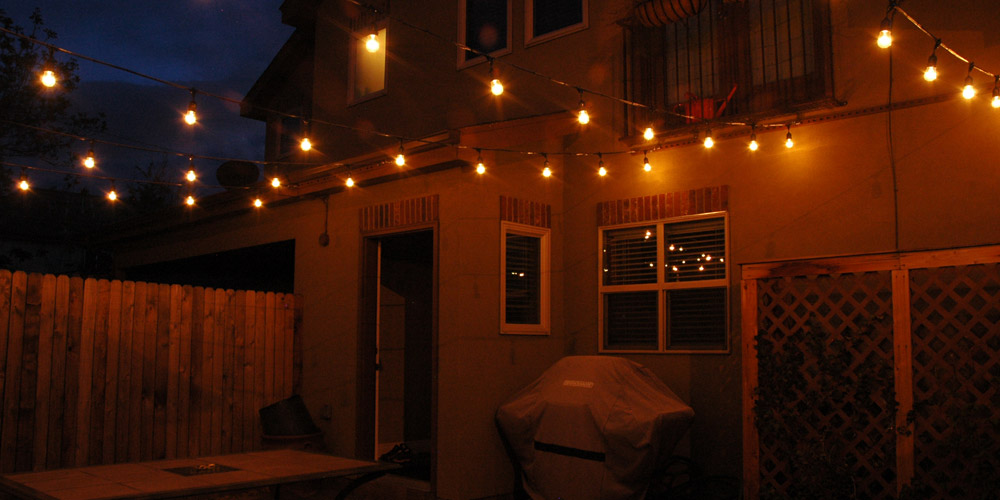 patio string lighting Charleston SC