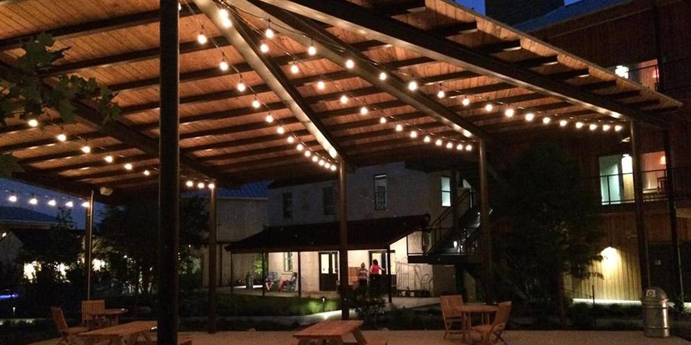 festive patio lighting Charleston SC