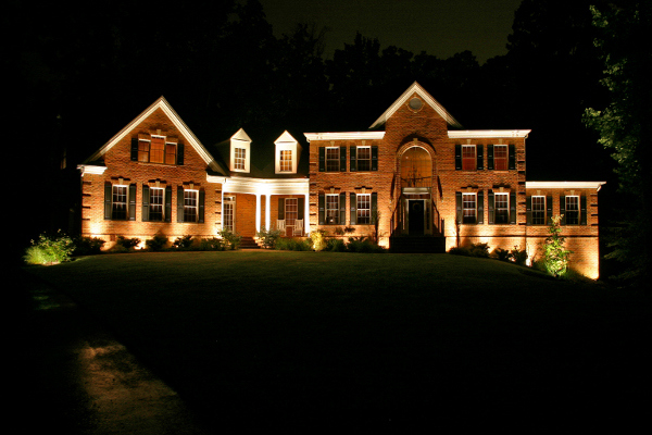 outdoor lighting for brick homes