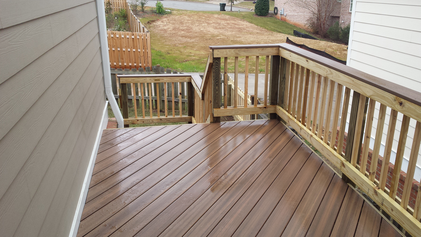 Types of composite and synthetic decking materials for for Composite decking brands