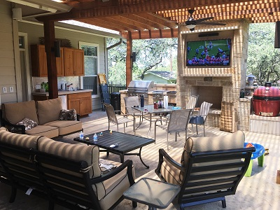 From simple deck to rugged Texas backyard man cave … Score ... on Man Cave Patio Ideas id=77483