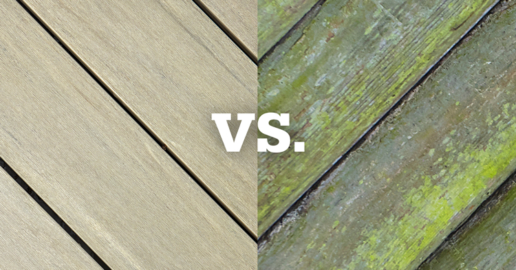wood decking vs. composite decking