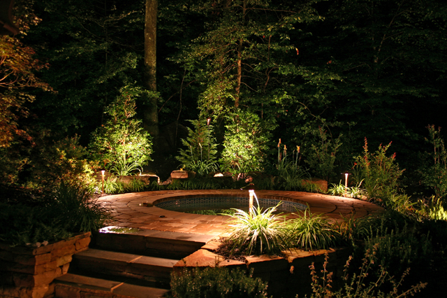 Outdoor lighting includes patio lighting and landscape lighting to highlight safety concerns and enhance beauty