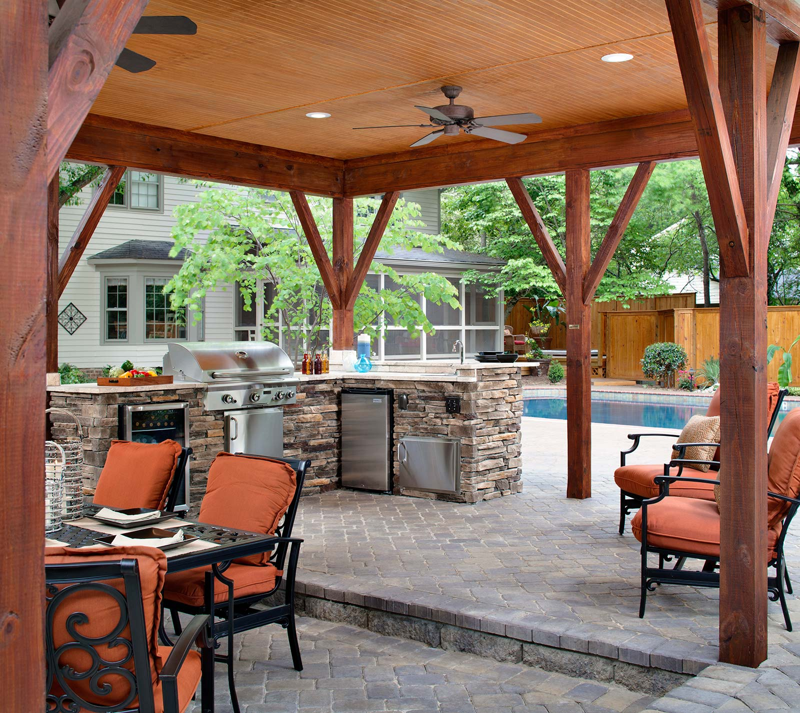 outdoor kitchen for entertaining
