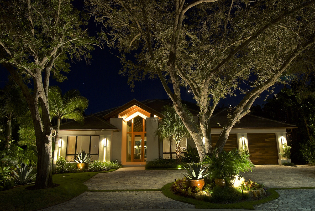 Award winning pelican bay landscape lighting design accentuates the at outdoor lighting perspectives of naples we were thrilled when a long time client leslie sherman managing partner of calusa bay design mozeypictures Image collections