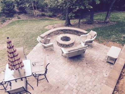Lake Wylie paver patio