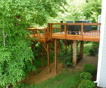 Harrisburg wooden deck
