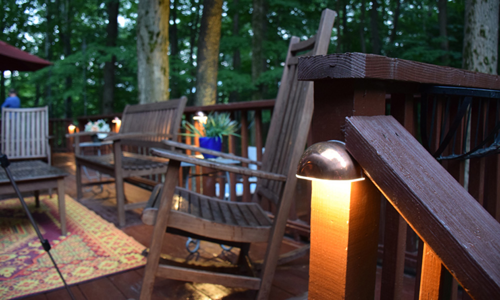 Landscape Lighting Perfection Of Yards At Outdoor Lighting Perspectives, we design and install custom, upscale  deck lighting in Richmond and Charlottesville. We believe that deck lighting  begins ...