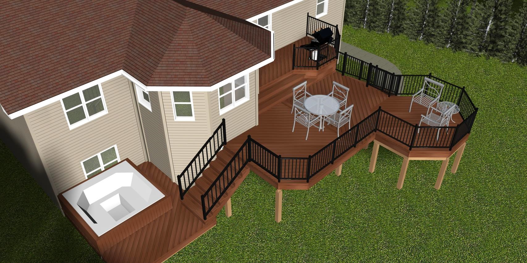 Large Upper Level Composite Deck In Lower Sackville Archadeck