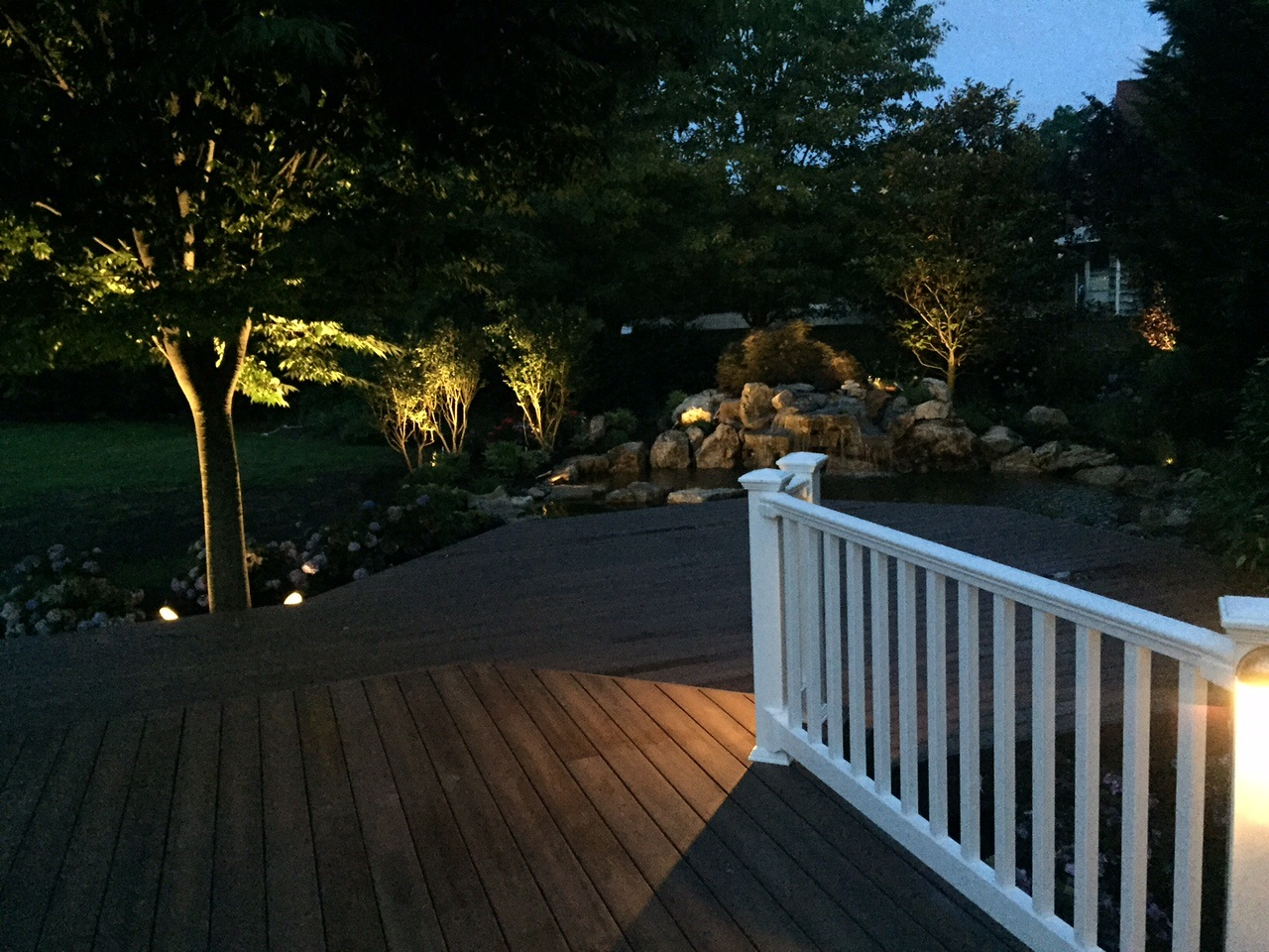 Outdoor living dreams become a reality with seattle landscape seattle deck lighting aloadofball Gallery