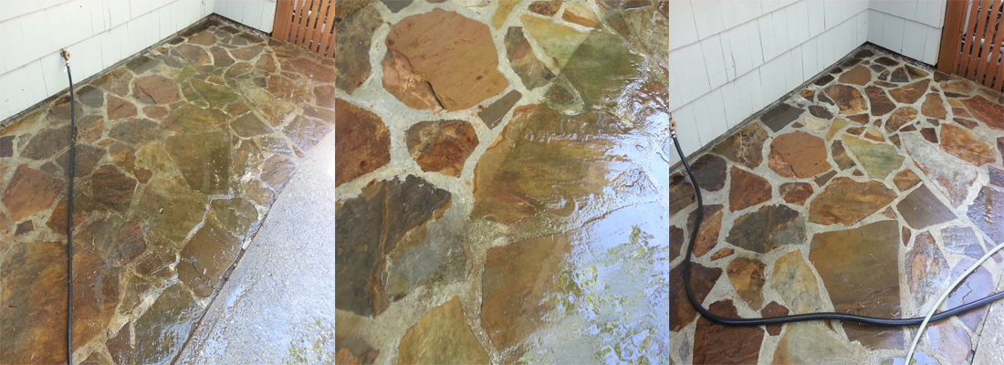 natural stone cleaning and protecting before and after