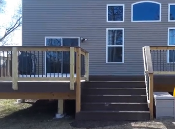 TimberTech multi-level deck in Warrenville, IL Thumbnail