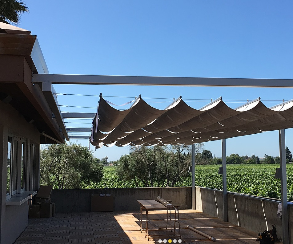 Colorful Infinity Canopy Offers A Versatile Shade Solution For Salt Lake  Decks And Patios