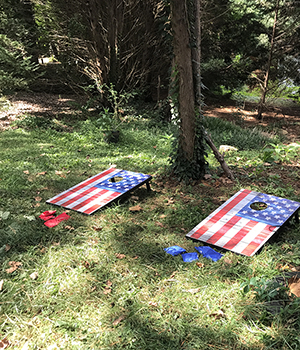 Cornhole equipment