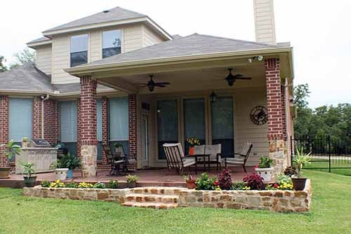 Texas covered porch