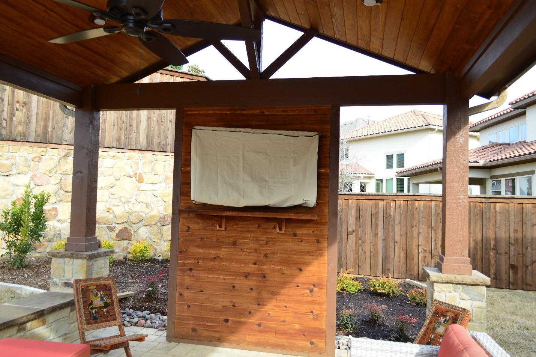 Custom-cedar-TV-wall-and-mantel