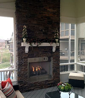outdoor fireplaces offer privacy