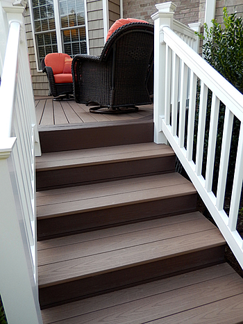 composite deck stair