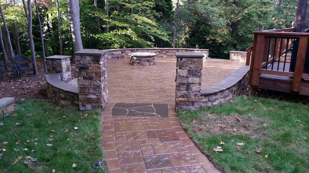 Stain and protective coating hardscape