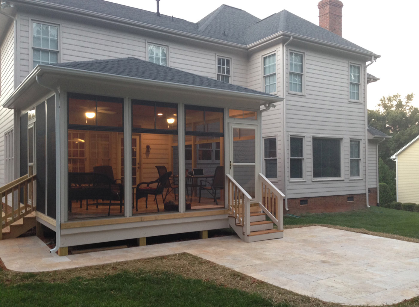 A salt lake city screened in porch for luxurious outdoor for Shed roof screened porch plans