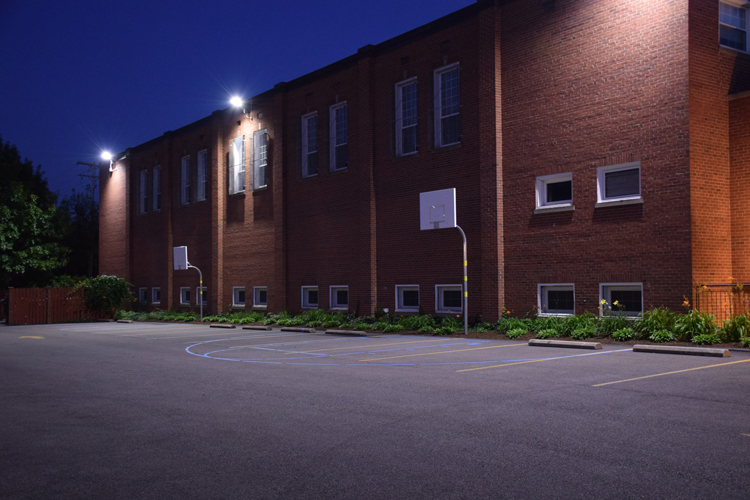Parking lot lighting cleveland oh can even make out the individual bricks on the wall and tell the colors of the flowers in the landscaping that is the goal of great outdoor lighting aloadofball Images