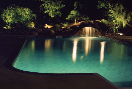 Outdoor Lighting Perspectives of Charlotte turns your pool area into a retreat with outdoor lighting