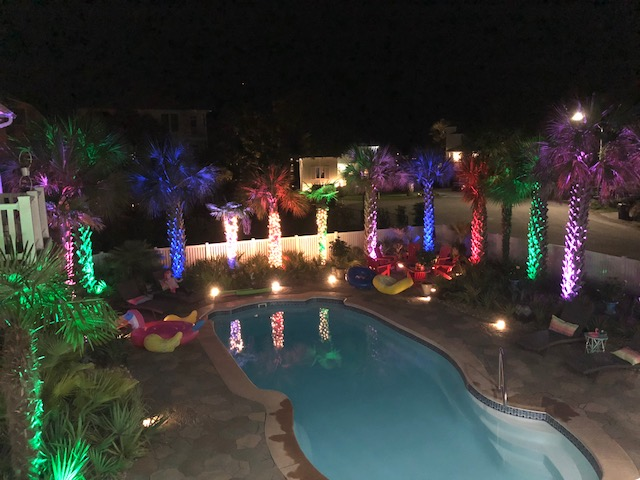 colorful RGB lighting - Outdoor RGB Lights Are Just What The Party Ordered Outdoor