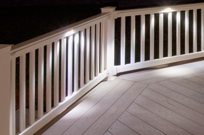 Under-rail lights & The Top 4 Most Beautiful *AND* Useful Deck Lighting Types to ...