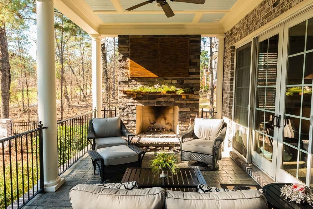 Add-luxury-to-your-porch-with-a-custom-outdoor-fireplace