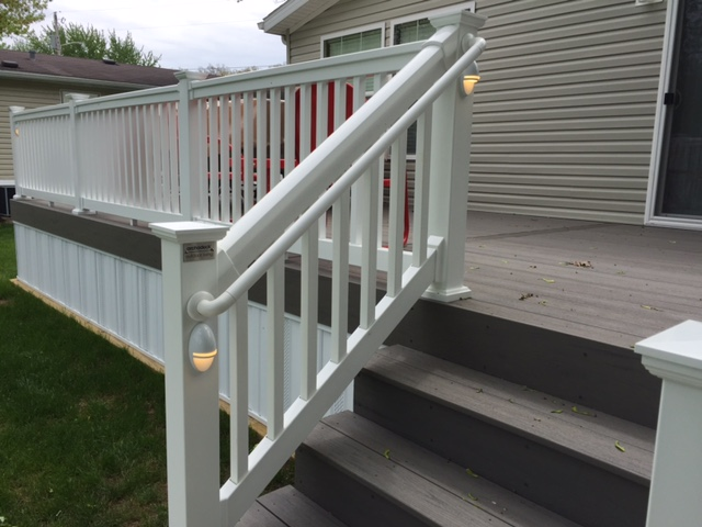 Northern Indiana Lake Home Gets New Composite Deck Amp Rail