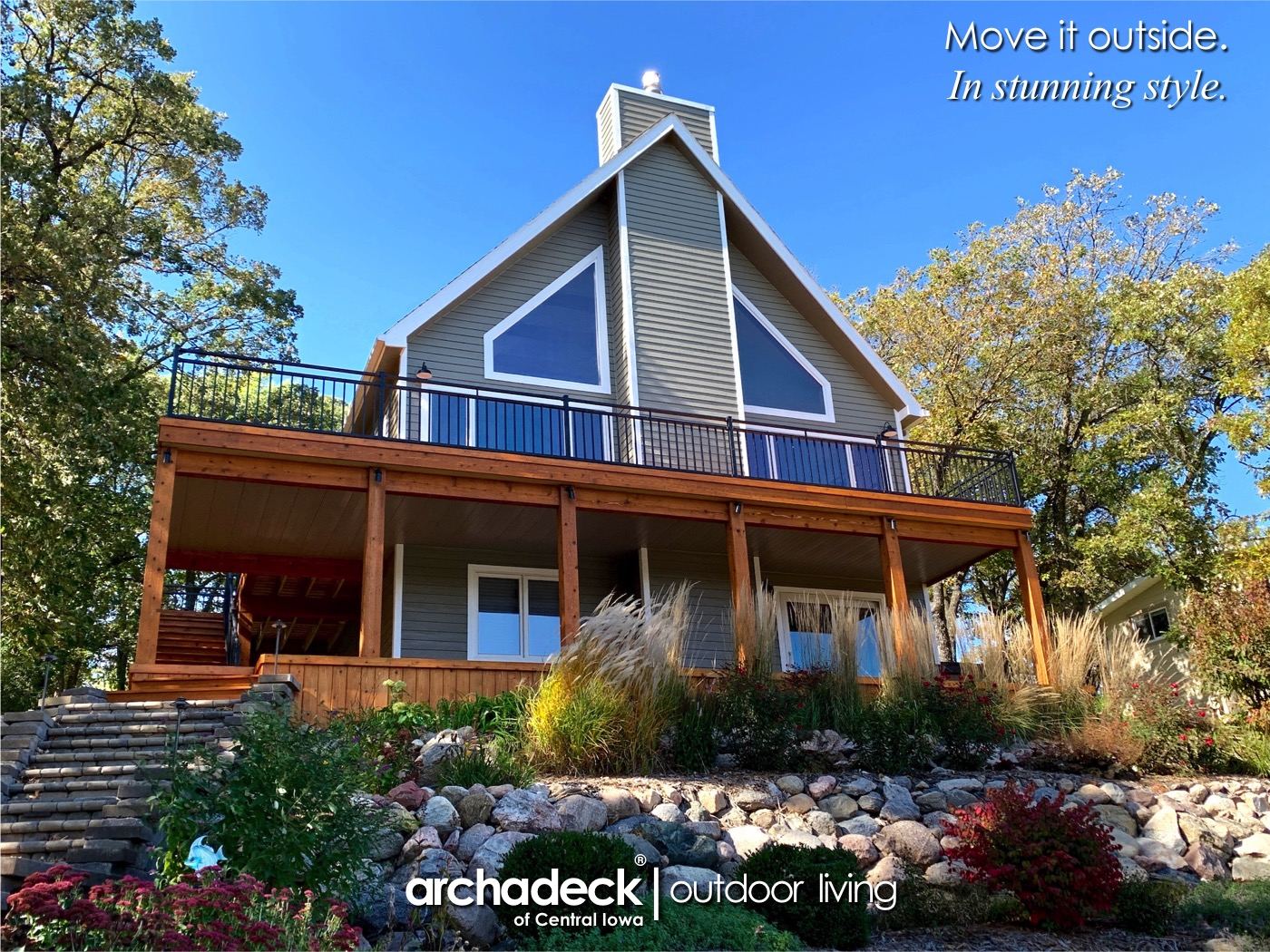 Multi-Level, Cedar Deck Spaces at Lake Panorama (Central Iowa - Des Moines) Thumbnail
